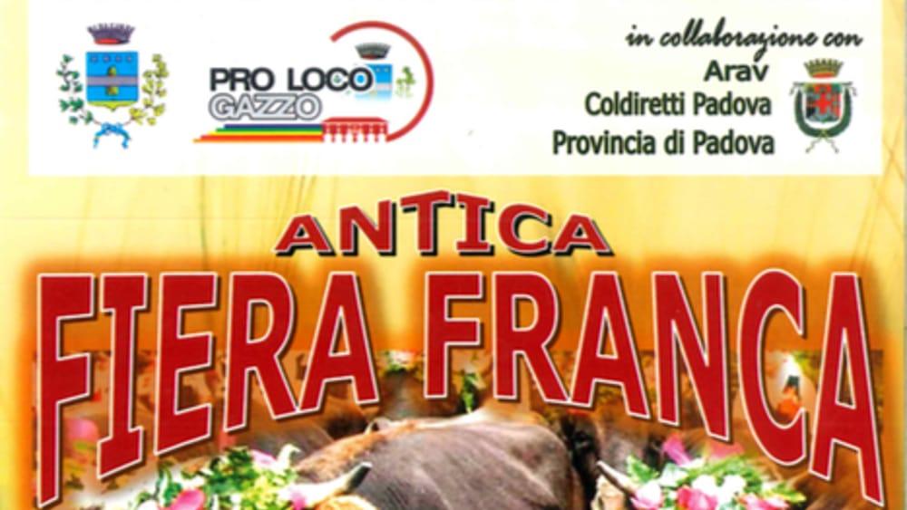 Antica fiera franca del bestiame a gazzo il 7 e 8 ottobre for Fiera piazzola sul brenta 2017