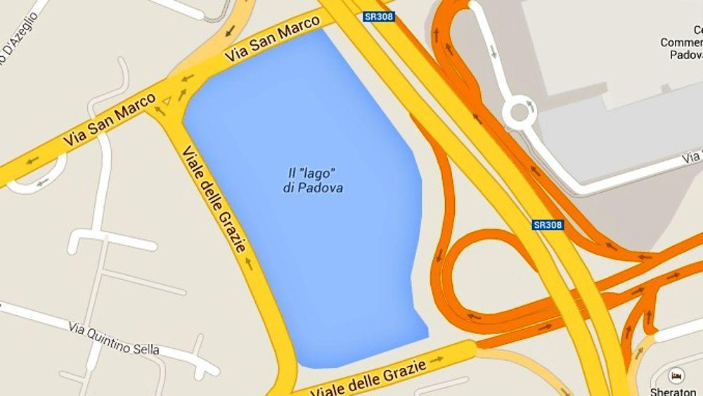 Lago di padova est su google maps for Lago padova