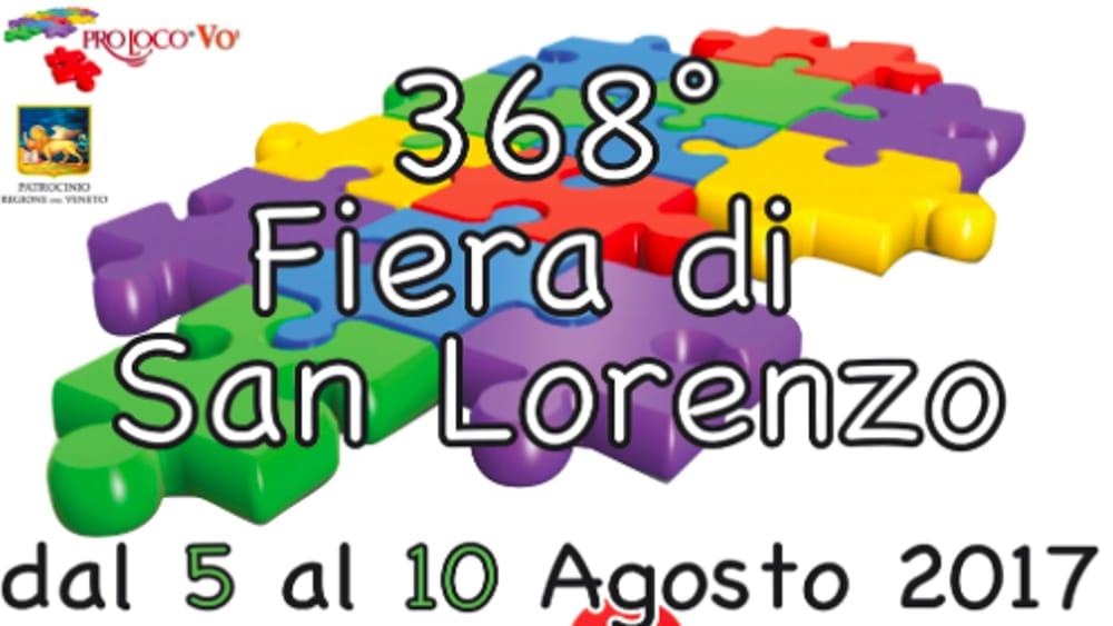 368 fiera di san lorenzo a vo 39 euganeo dal 5 al 10 agosto for Fiera piazzola sul brenta 2017