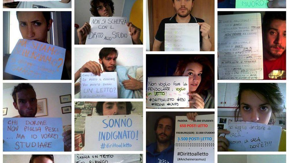 Universita Di Padova Protesta Degli Studenti Senza Alloggi