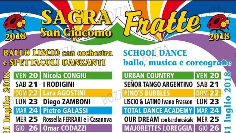 I Rodigini Calendario.Sagra Di San Giacomo A Fratte Dal 20 Al 30 Luglio 2018