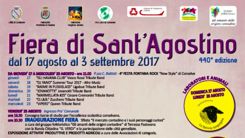 440esima fiera di sant 39 agostino a conselve dal 17 agosto for Fiera piazzola sul brenta 2017