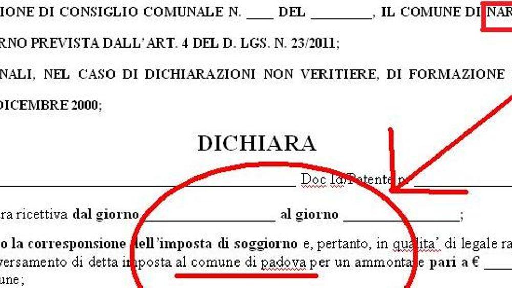 Tassa di soggiorno, copia-incolla da Padova: errore del Comune di Nardò
