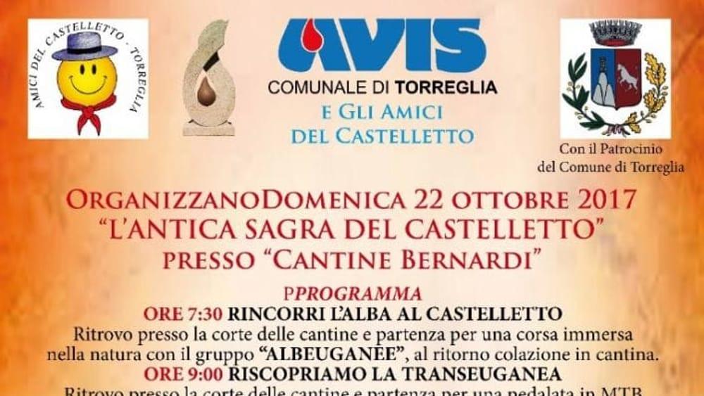 Antica sagra del castelletto a torreglia il 22 ottobre for Fiera piazzola sul brenta 2017