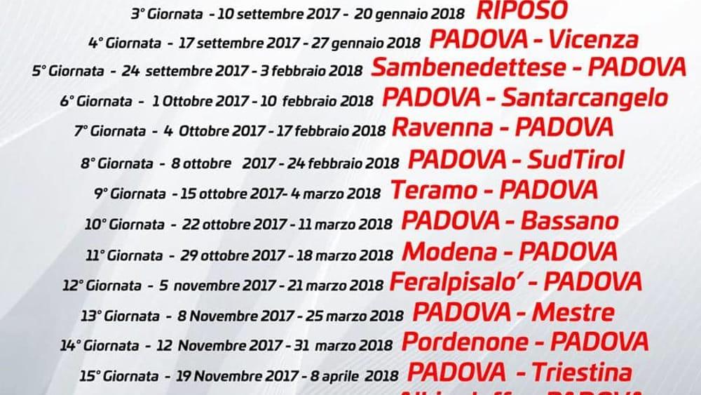 Calendario Calcio Padova.Calcio Padova Revocato Lo Sciopero Domenica Si Gioca Il