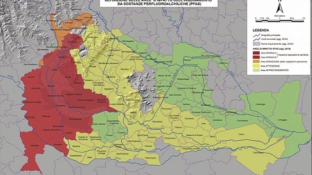 Cartina Comuni Veneto.Pfas La Giunta Del Veneto Allarga La Mappa Dei Comuni Inquinati L Elenco Completo