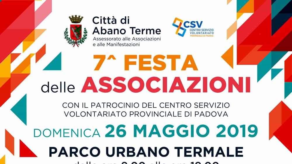 Calendario Manifestazioni Abano Terme.Festa Delle Associazioni Al Parco Urbano Di Abano Il 26