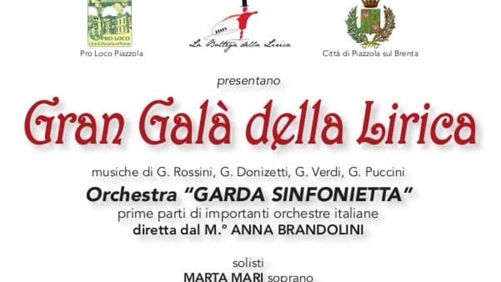 Gran Gala Della Lirica A Villa Contarini Il 5 Agosto 2019 Eventi A Padova